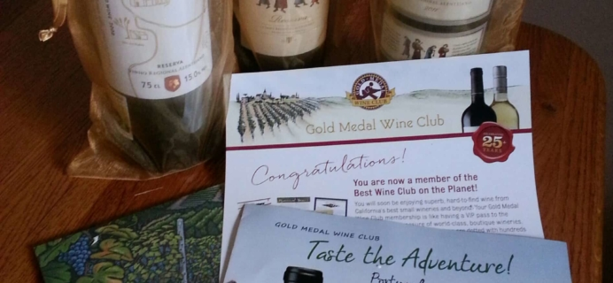 Gold Medal Wine Club March 2017 Subscription Box Review & Coupon – International Series