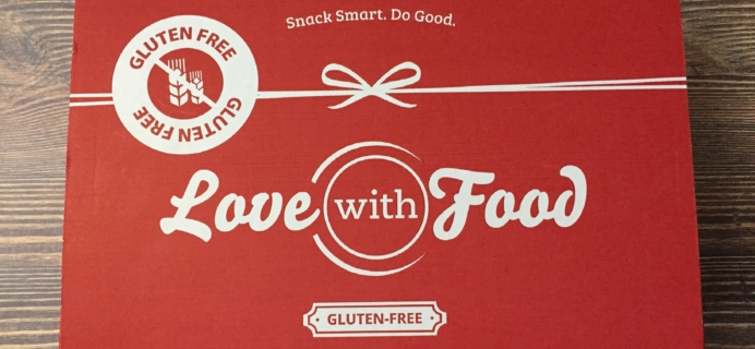 Love With Food Gluten-Free March 2017 Subscription Box Review + Coupon