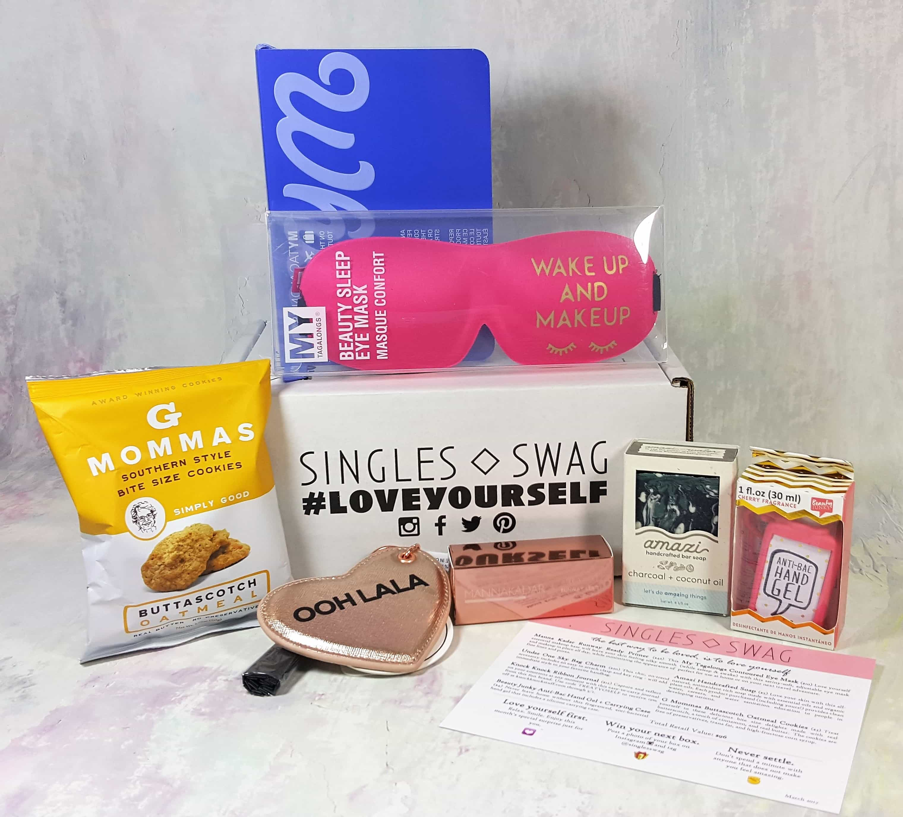 SinglesSwag Subscription Box Review & Coupon – March 2017