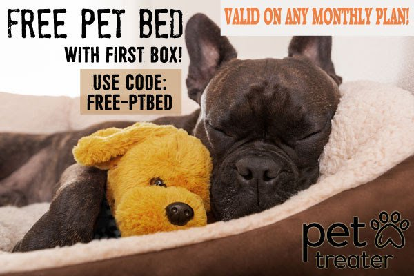 Pet Treater Coupon: Free Pet Bed with First Box!