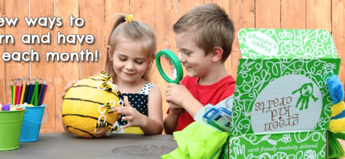 Green Kid Crafts Summer Science 2017 Themes + 50% off First Box Coupon!