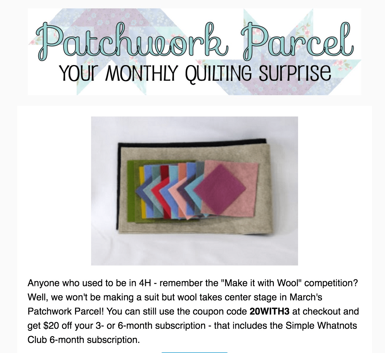 Patchwork Parcel August 2017 Spoiler + Coupon