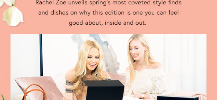 Rachel Zoe Box of Style Spring 2017 Full Video Reveal + Coupon!