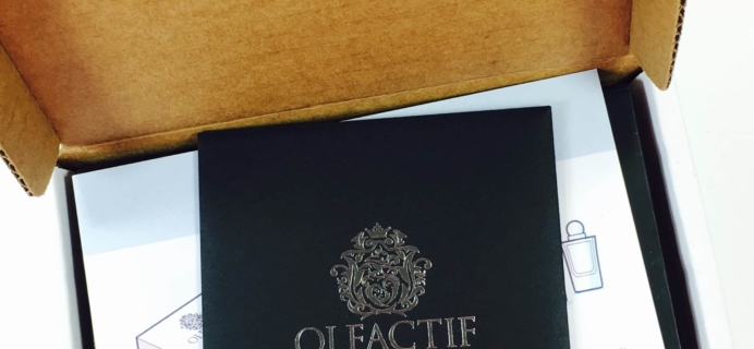 Olfactif March 2017 Subscription Box Review