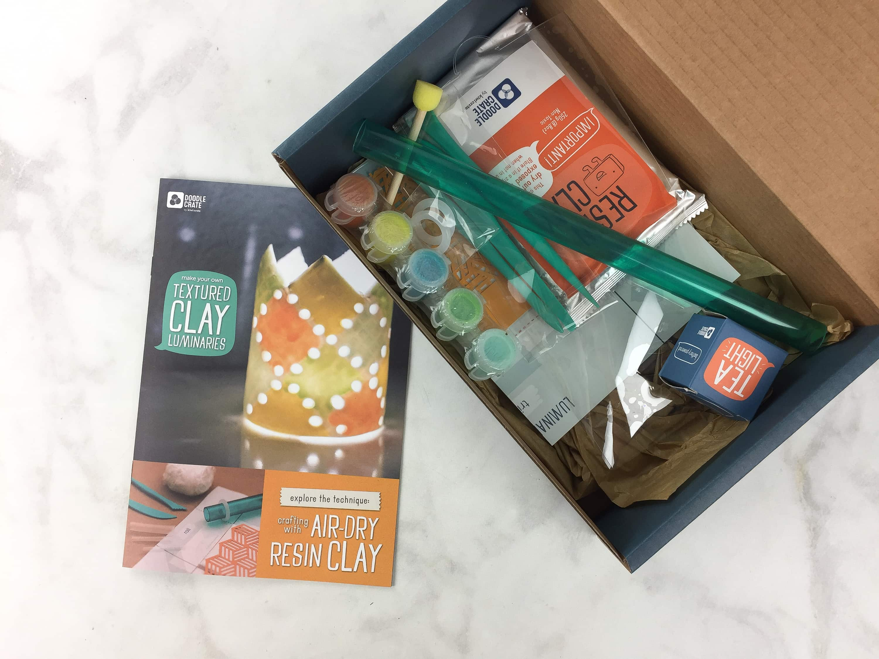 Doodle Crate March 2017 Subscription Box Review & Coupon – TEXTURE CLAY LUMINARIES