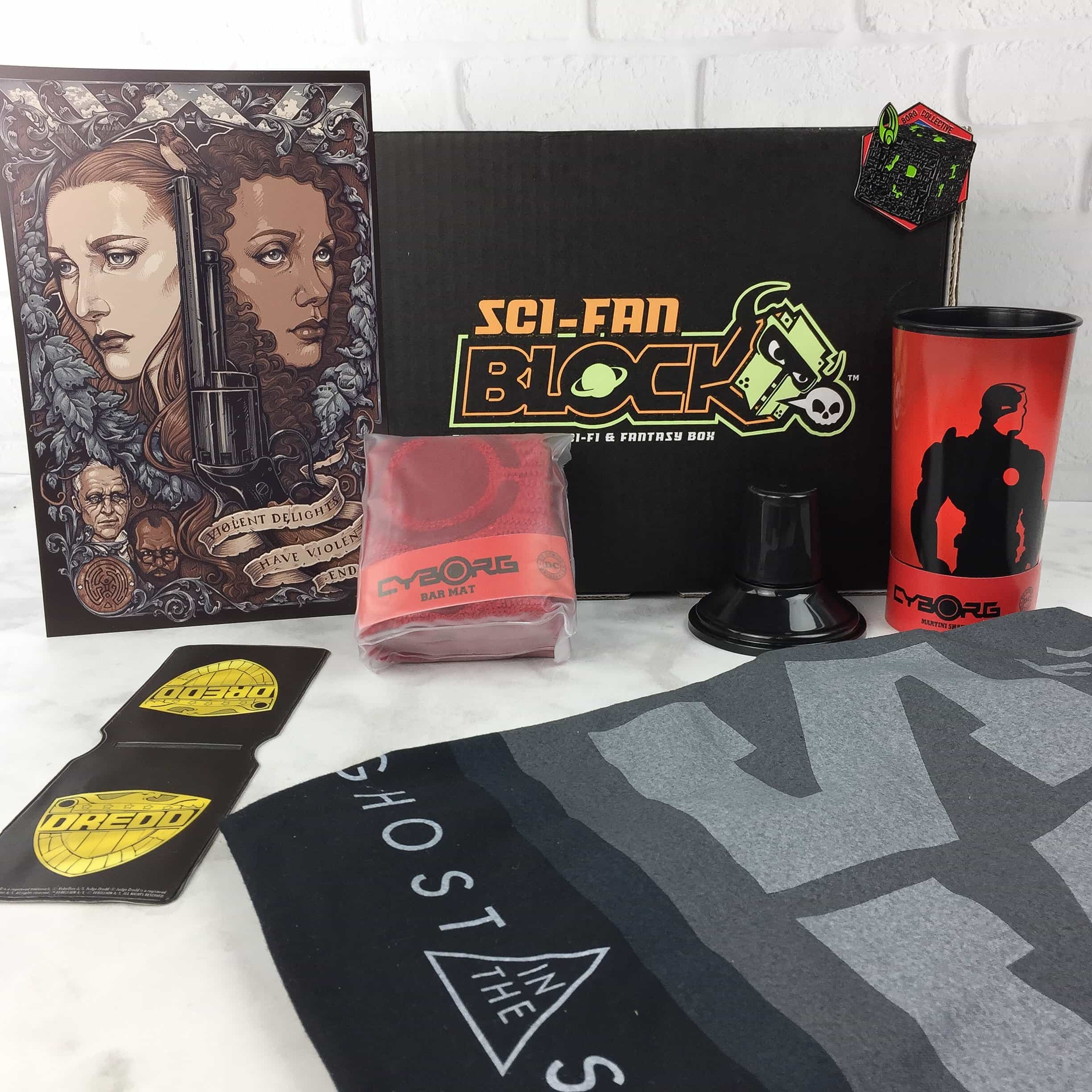 Sci-Fan Block March 2017 Subscription Box Review + Coupon