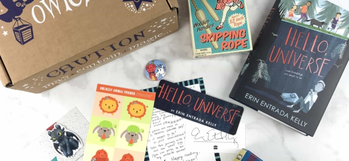 OwlCrate Jr. March 2017 Box Review + Coupon