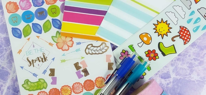 Planner Packs March 2017 Subscription Box Review