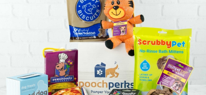 Pooch Perks March 2017 Subscription Box Review + Coupon!