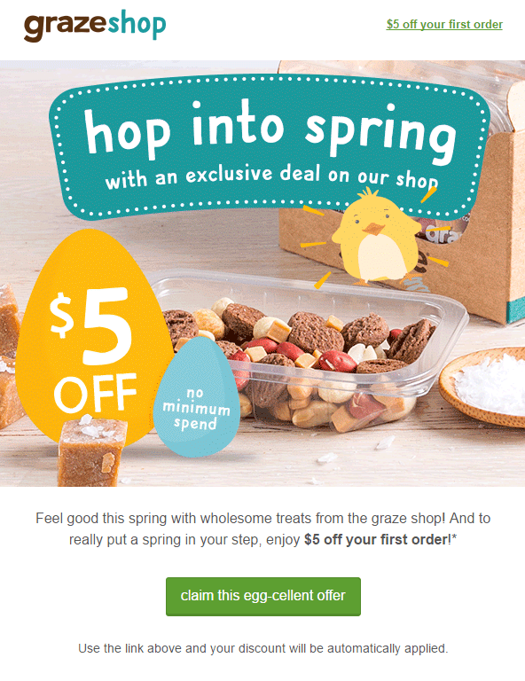 Graze Coupon: $5 OFF Your First Order!