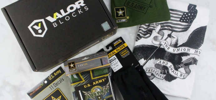 Valor Blocks March 2017 Subscription Box Review – US Army Block