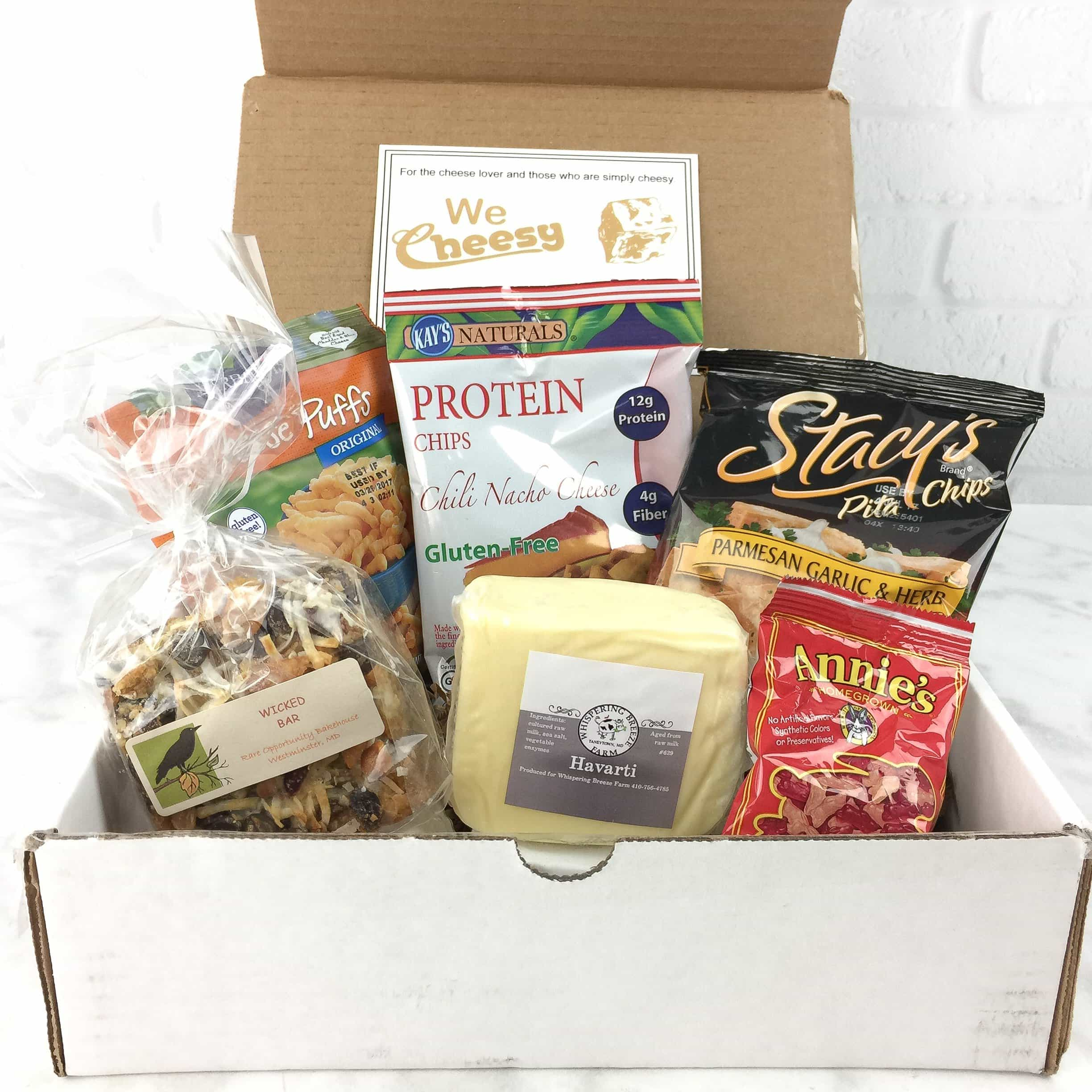 We Cheesy March 2017 Subscription Box Review + Coupon