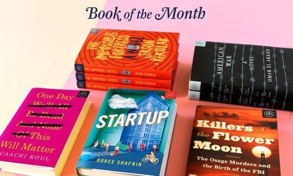 Last Call for April 2017 Book of the Month Selection + First Book $5