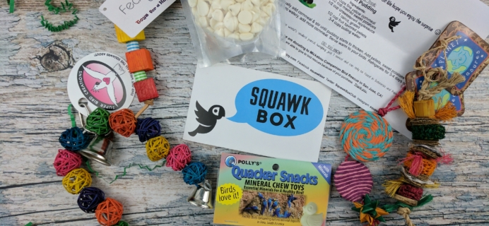 Squawk Box Subscription Box Review – March 2017