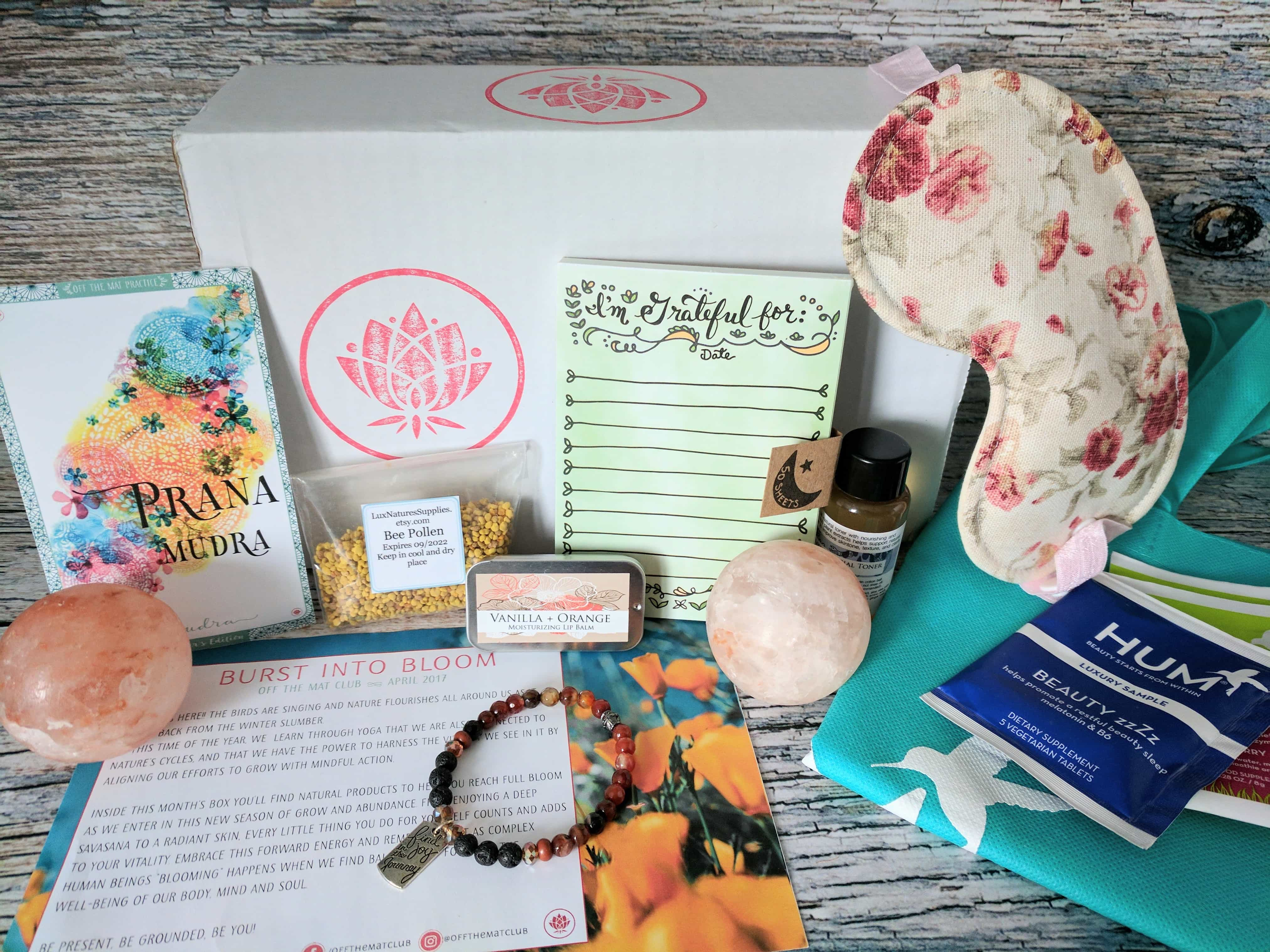 Off the Mat Club Subscription Box Review + Coupon – April 2017