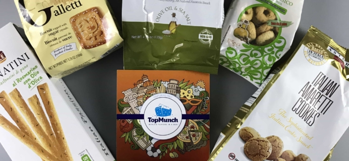 TopMunch April 2017 Subscription Box Review + Coupon – ITALY!