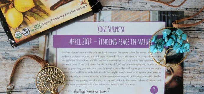 Yogi Surprise Jewelry Box Subscription Review – April 2017
