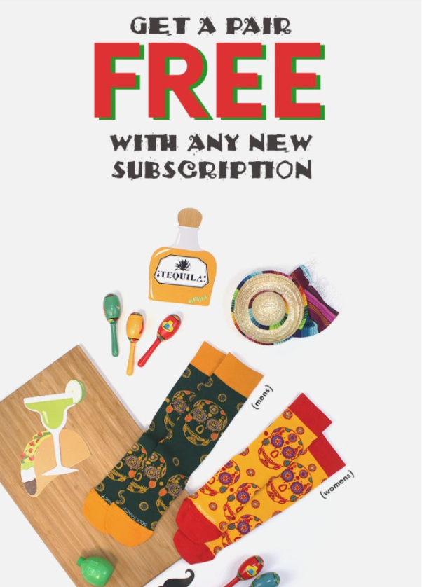 Sock Fancy Deal: Free Cinco de Mayo Pair with New Subscription!