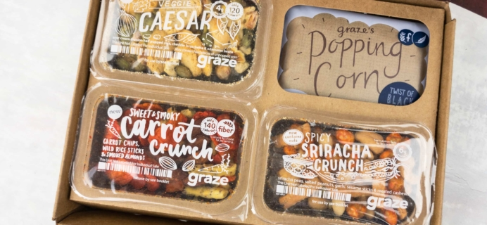 Graze Savory Box Review & Free Box Coupon – April 2017