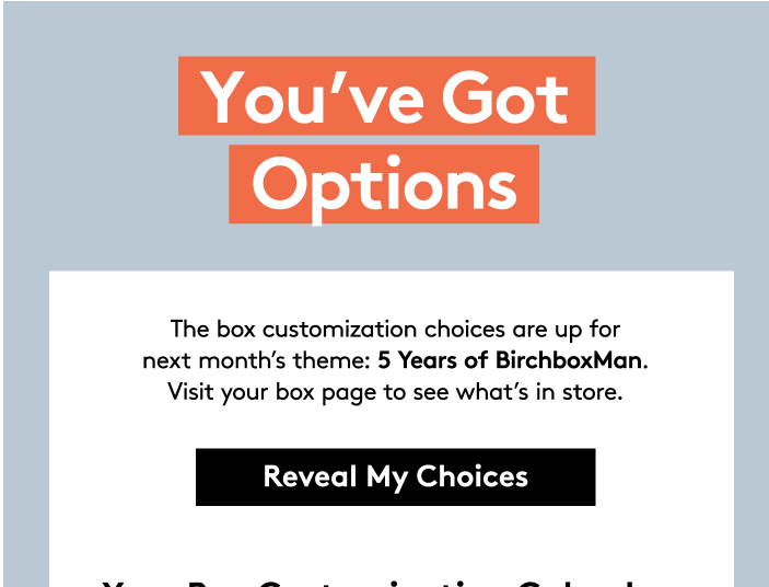 May 2017 Birchbox Man Sample Choice Spoilers & Coupon