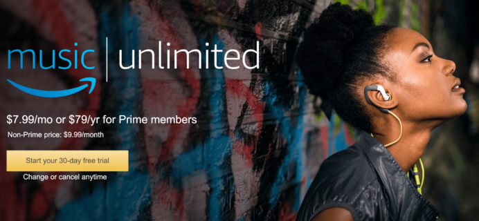 Amazon Music Unlimited Cyber Monday Deal – 3 Months for 99¢!