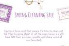 Yogi Surprise Spring Cleaning Sale!