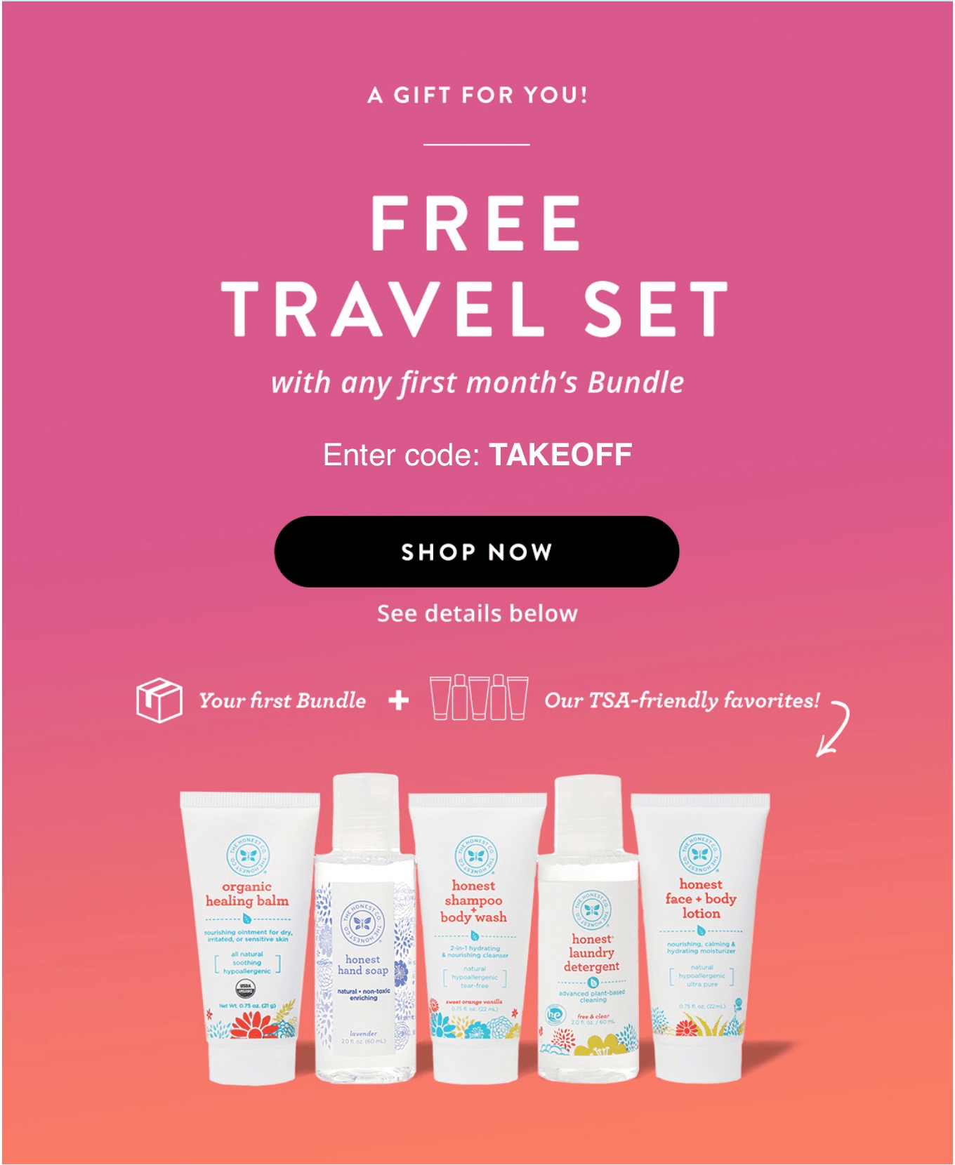 Free Travel Set with Honest Company Bundle Deal!