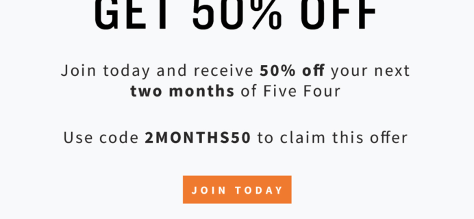 Five Four Club Deal: 50% Off First TWO Months!