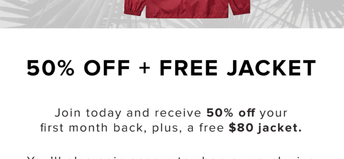 Five Four Club Deal: FREE Jacket + 50% off First Month!