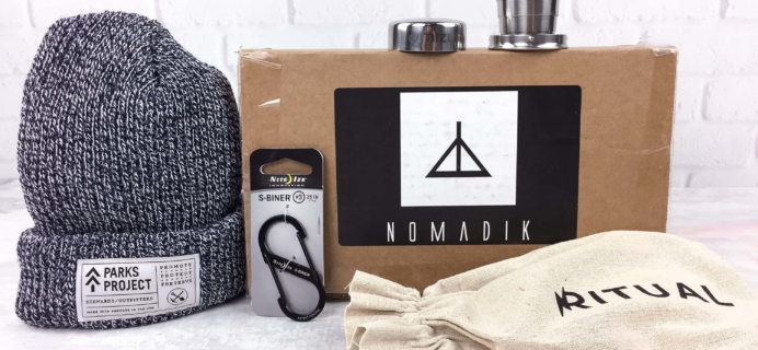 Nomadik February 2017 Subscription Box Review + Coupon
