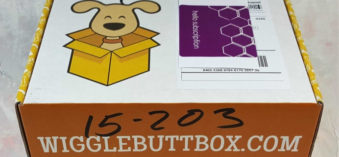 Wigglebutt Box Dog Subscription Box Review – April 2017