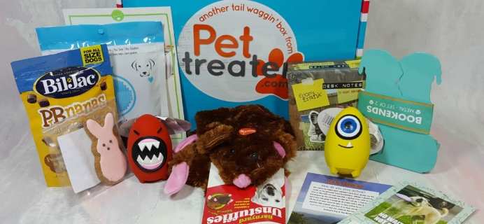 Pet Treater Dog Subscription Box Review + Coupon – April 2017