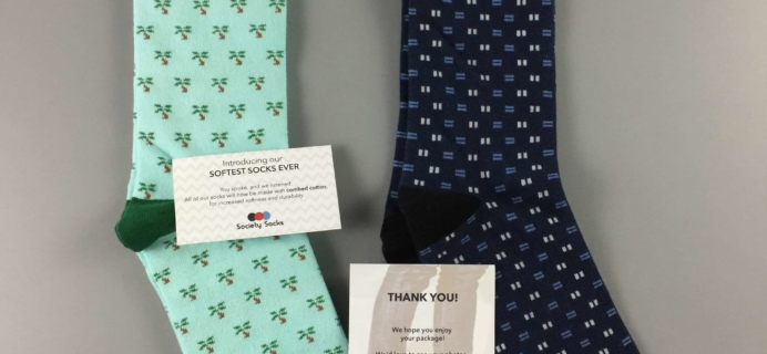 Society Socks May 2017 Subscription Box Review + 50% Off Coupon
