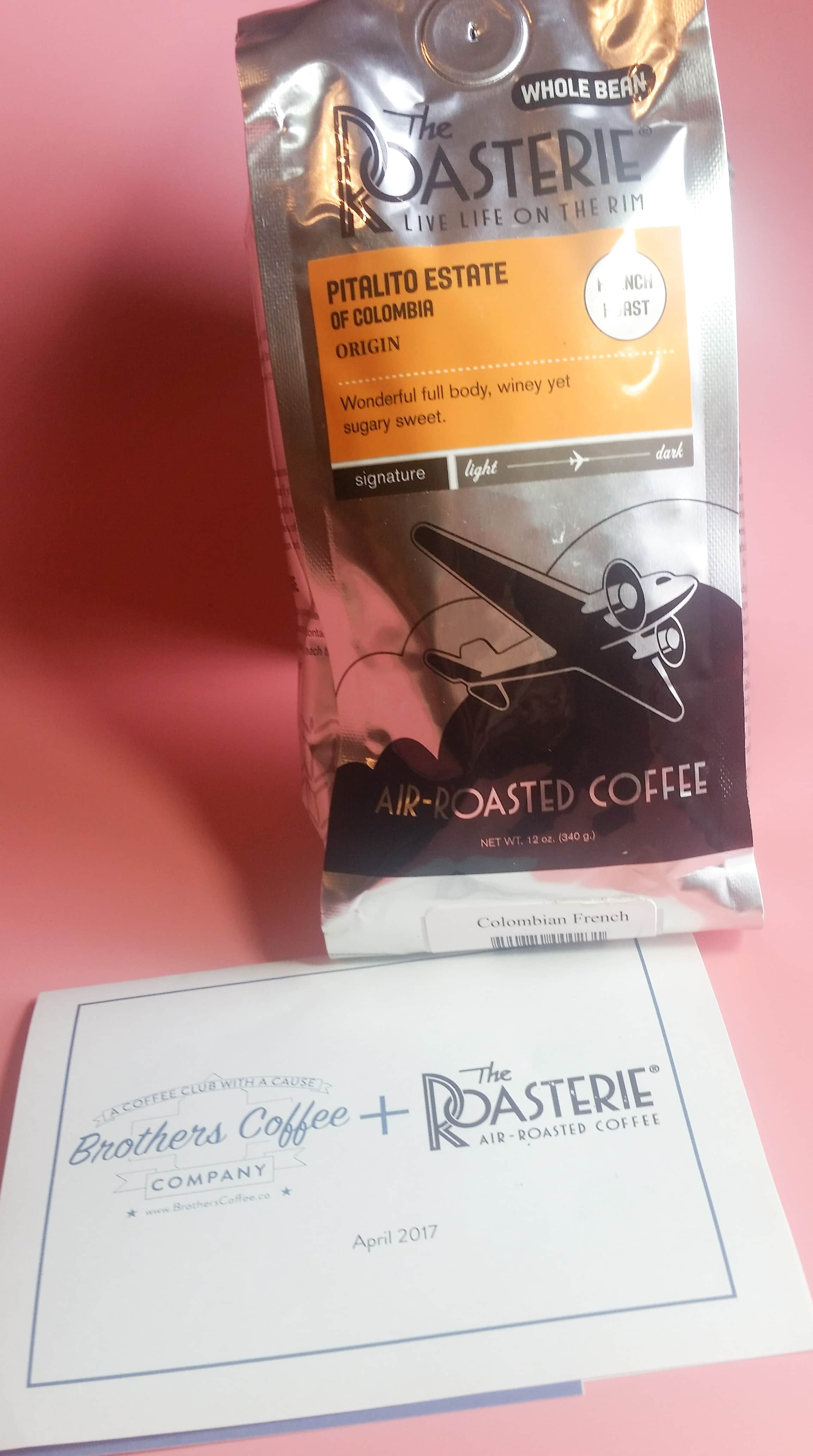 Brothers Coffee Company Subscription Box Review – April 2017