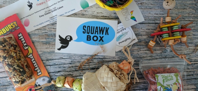 Squawk Box Subscription Box Review – April 2017