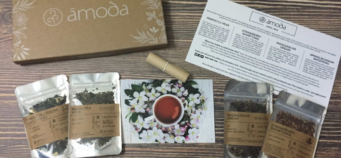 Amoda Tea April 2017 Subscription Box Review + Coupon!