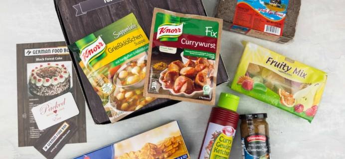 German Food Box May 2017 Subscription Box Review + Coupon