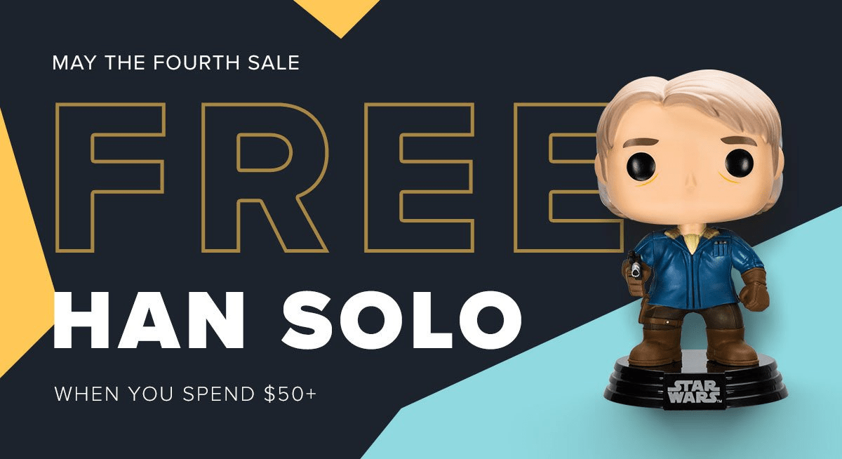 Loot Vault May the Fourth Only Deal: Free Han Solo Funko POP with $50 Purchase!