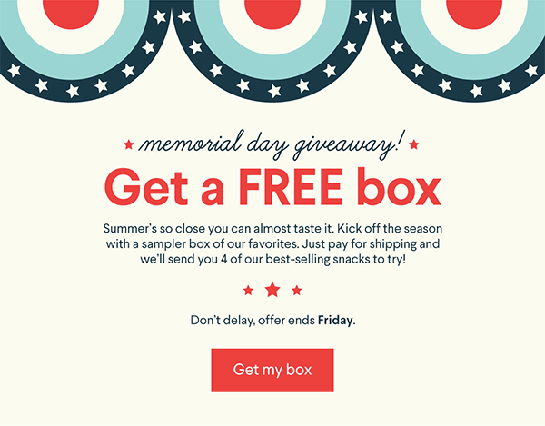 Naturebox Coupon Get Four Snacks Free Hello Subscription