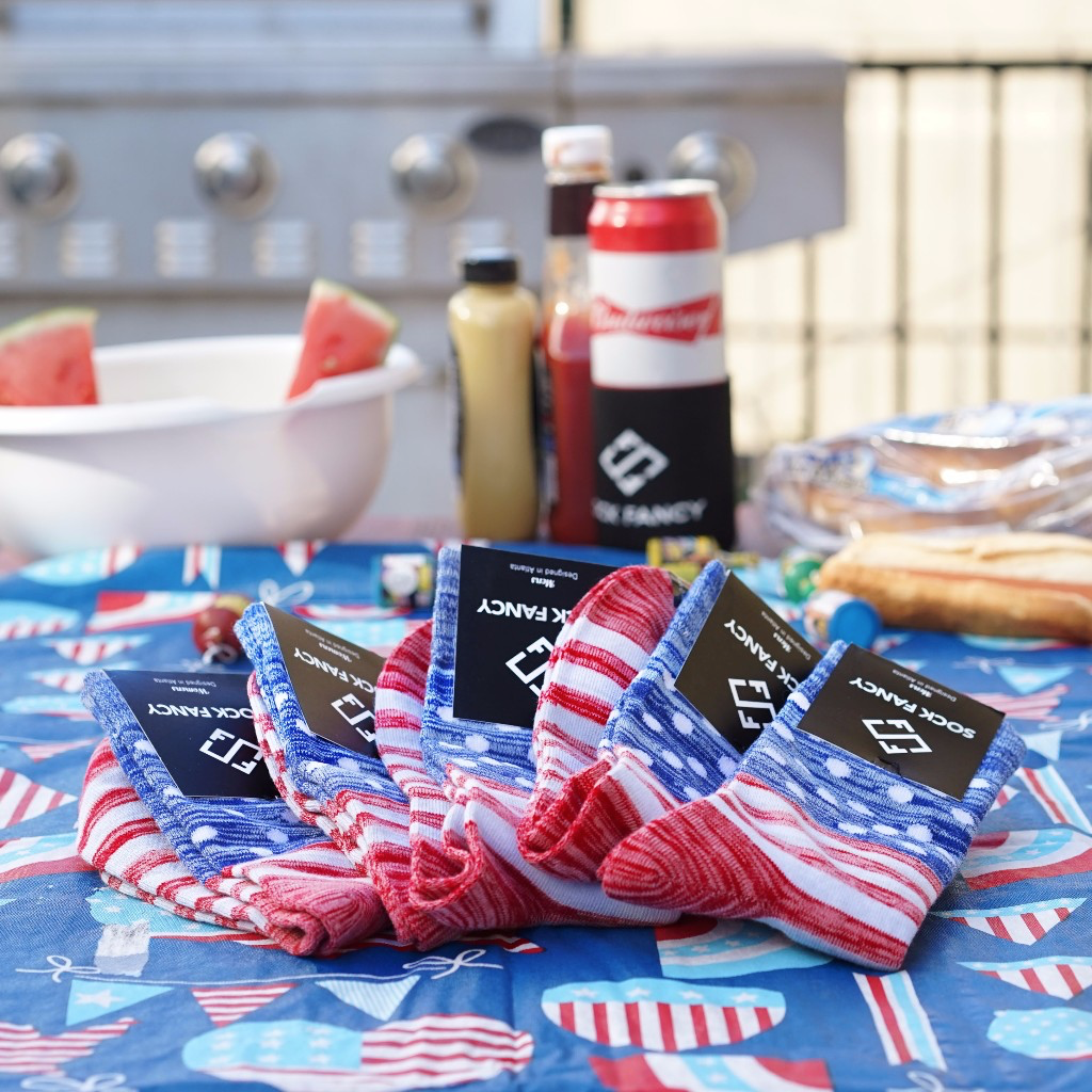 Sock Fancy Memorial Day Deal: Free American Heather Socks!