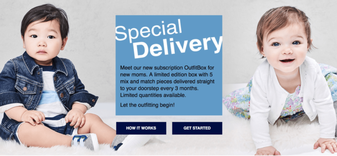 New Subscription Box: babyGap OutfitBox!