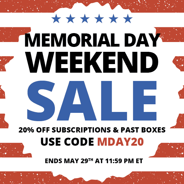 Cocotique Memorial Day Sale – 20% off all Subscriptions!