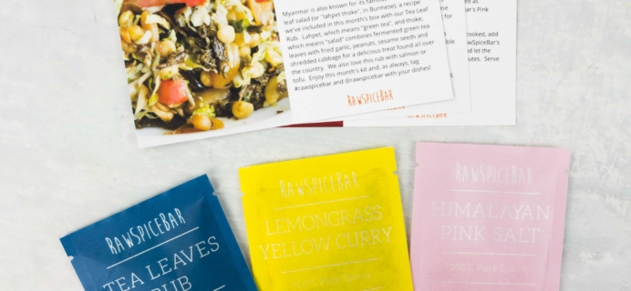 RawSpiceBar Spice Subscription Review & Coupon – May 2017
