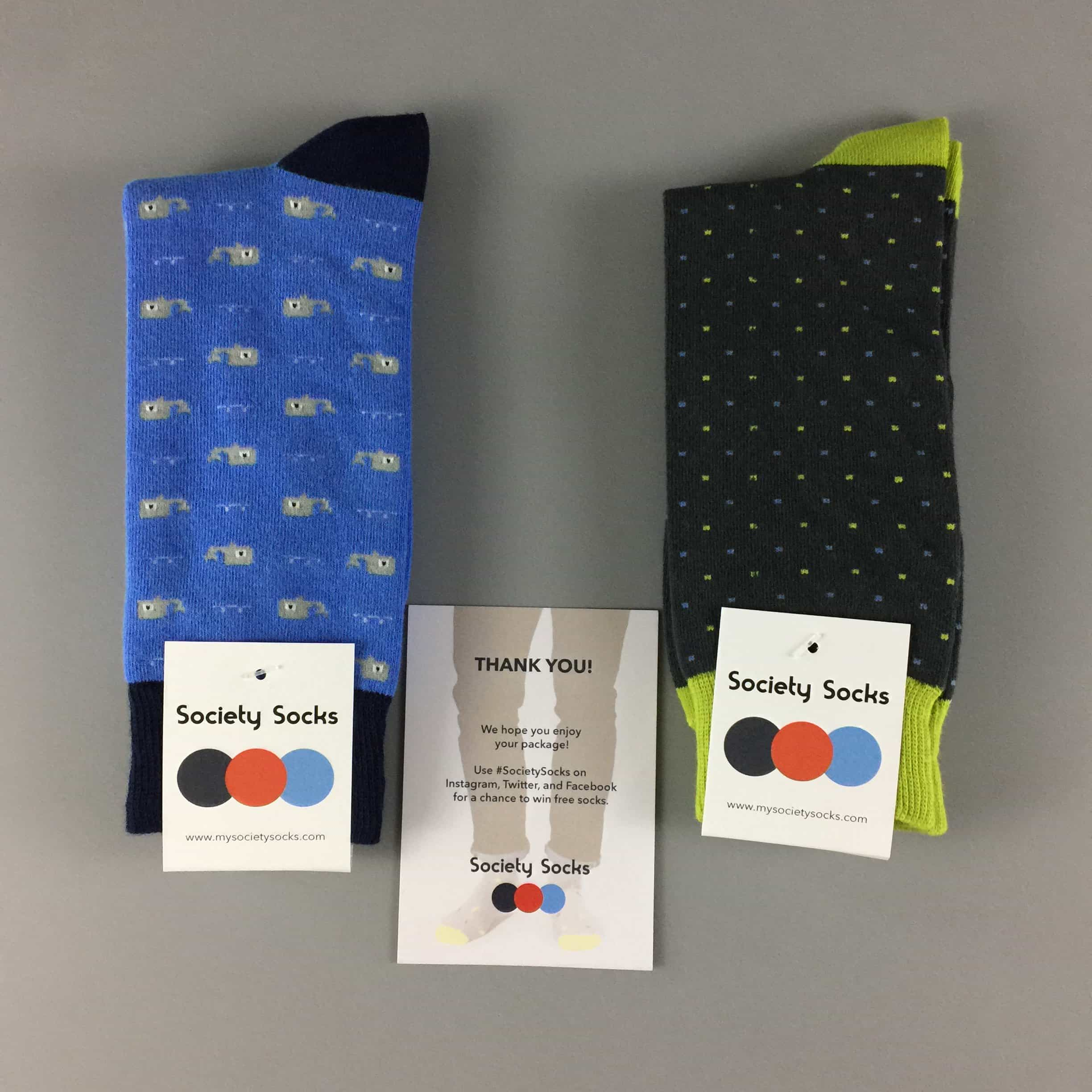Society Socks June 2017 Subscription Box Review + 50% Off Coupon