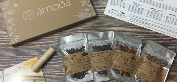 Amoda Tea June 2017 Subscription Box Review + Coupon!