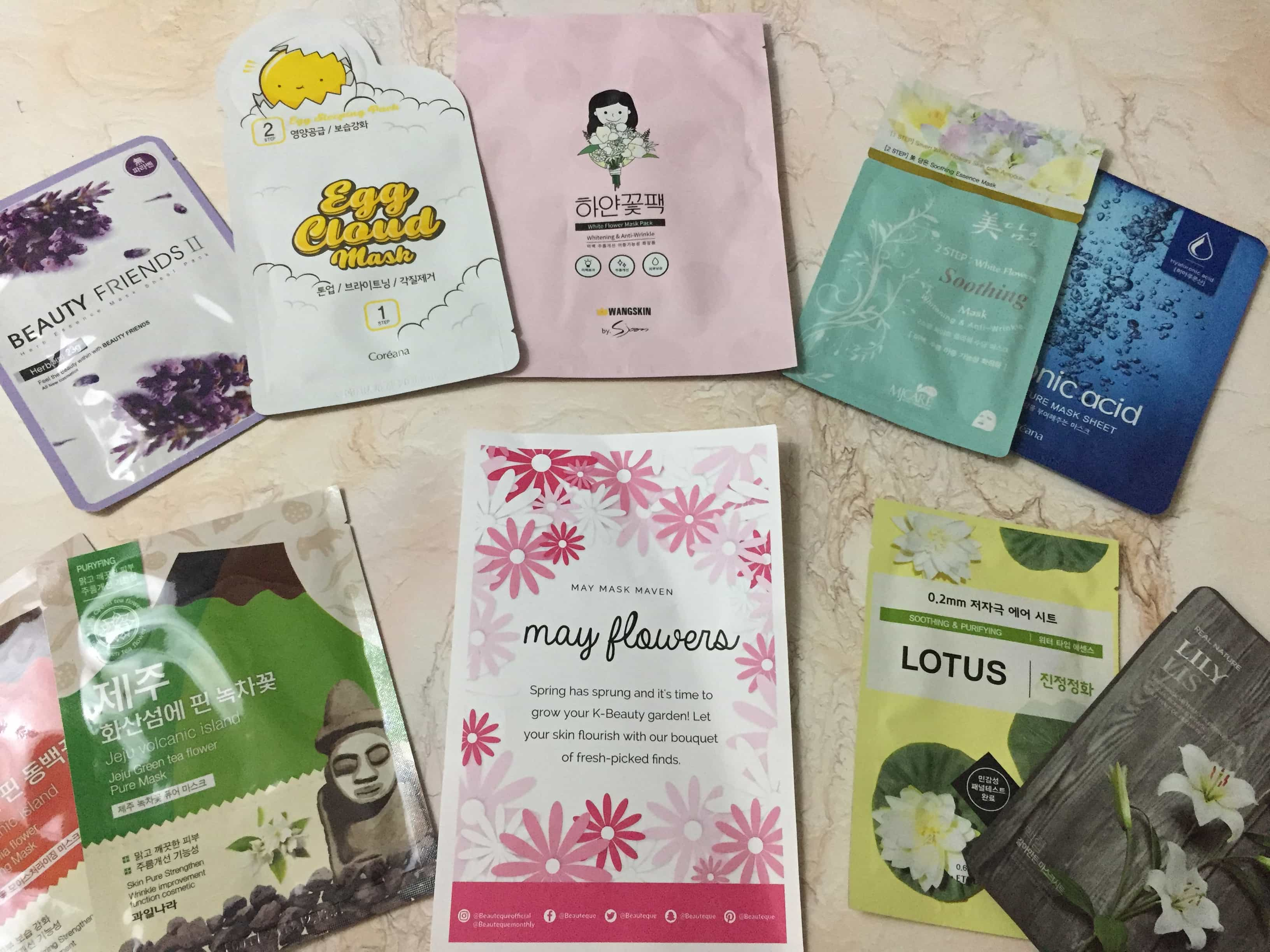 Beauteque Mask Maven May 2017 Subscription Box Review + Coupon