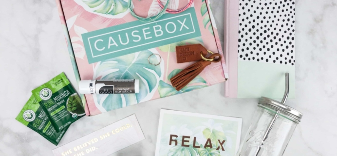 CAUSEBOX Summer 2017 Subscription Box Review + Coupon