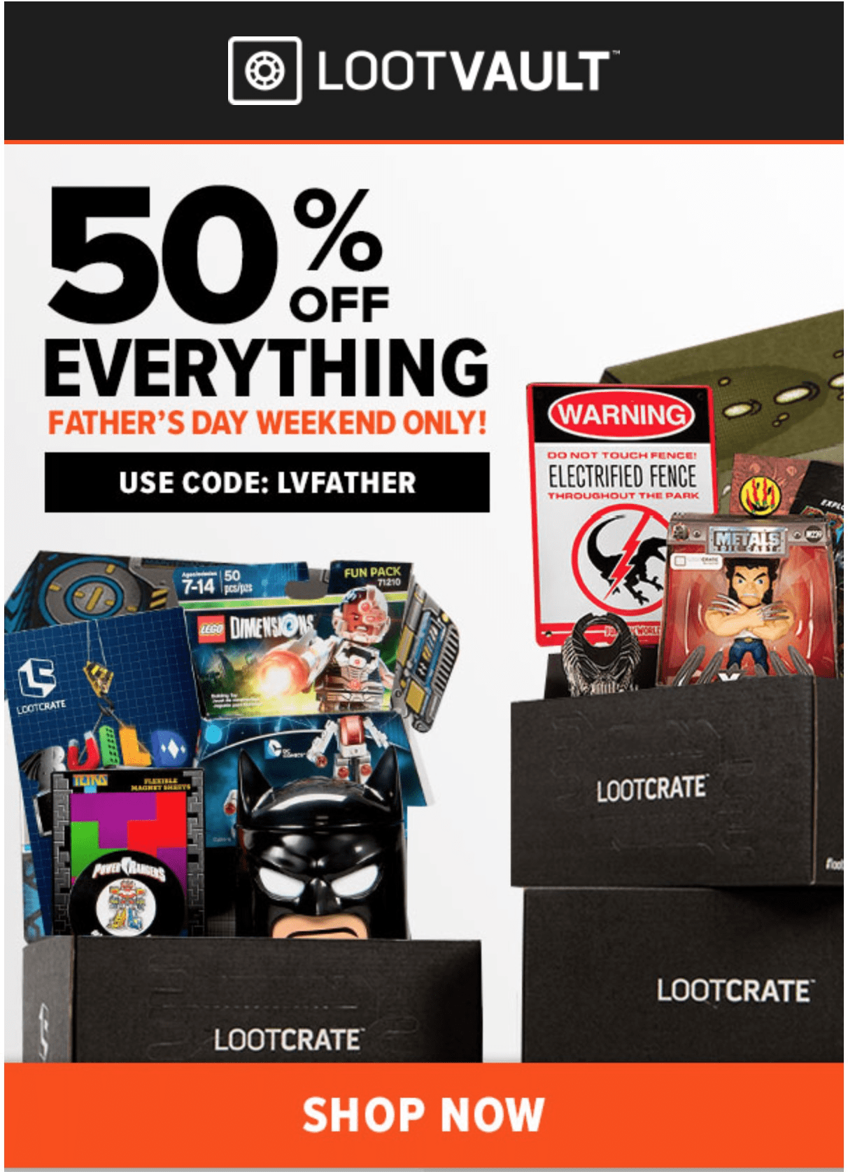 Loot Vault Past Crate Sale: 40% Off 3 Days Only!