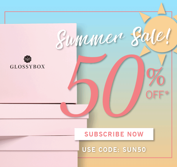 GLOSSYBOX Coupon Code: Save 50% On June Box!