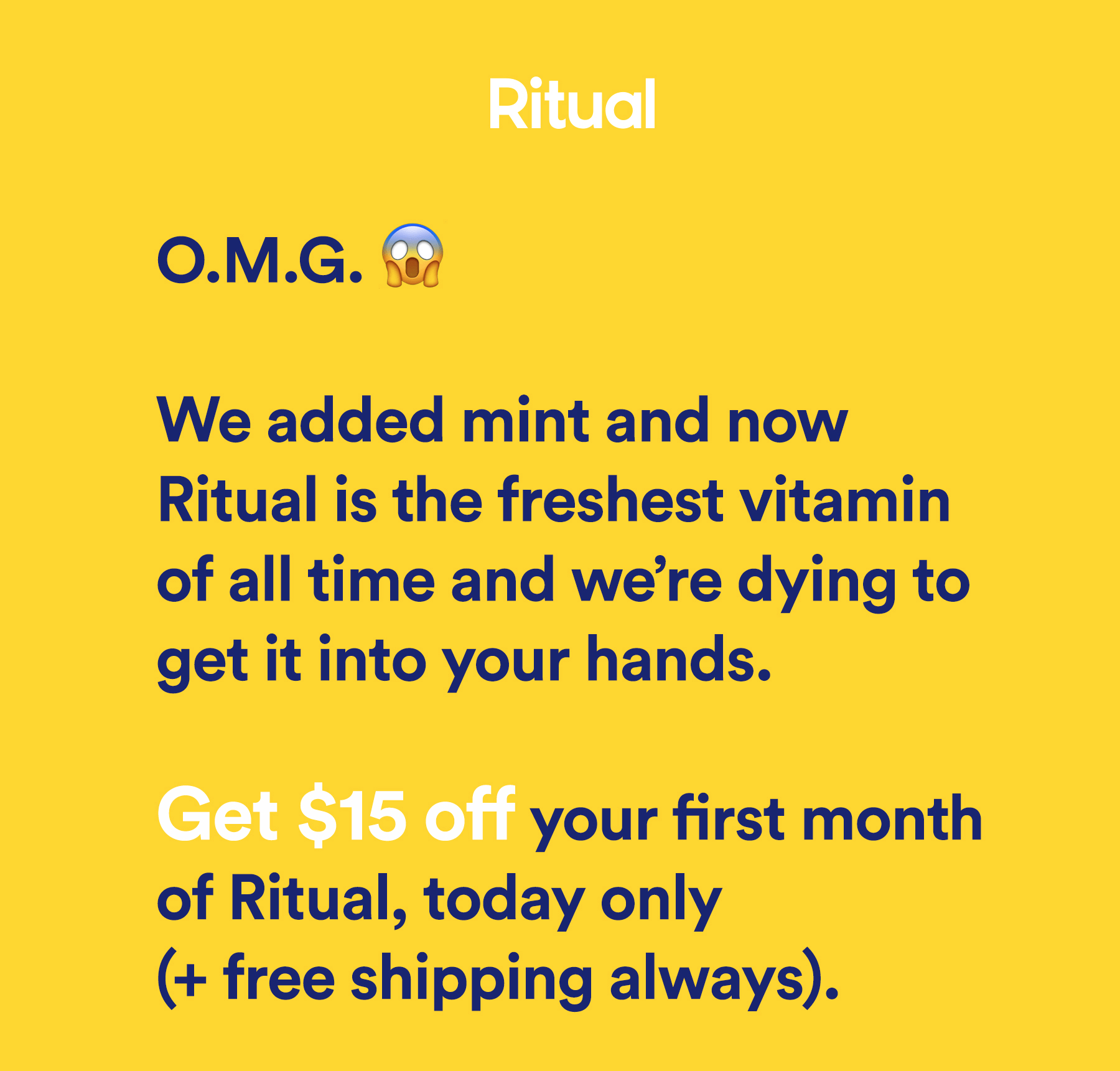 Ritual Vitamins Flash Deal: 50% Off Today ONLY!